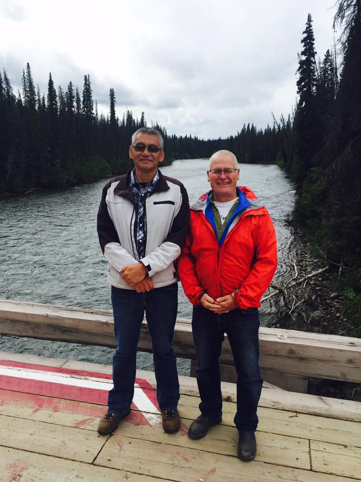 Wet'suwet'en hereditary chief Namox and I visited the Unist'ot'en camp yesterday to check on safety and witness what they are experiencing. Appreciated the great hospitality shown on Wet'suwet'en traditional territories.